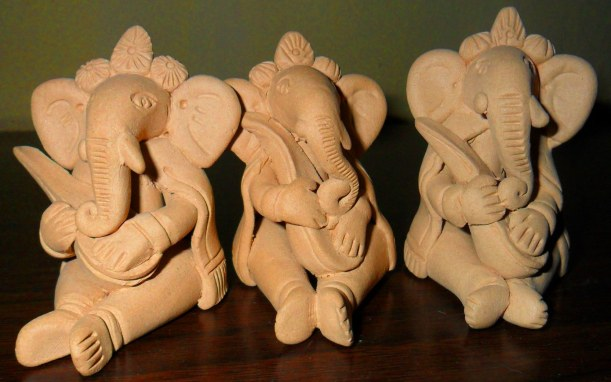 Row of ganeshas