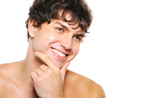 Man with #SmoothSkin