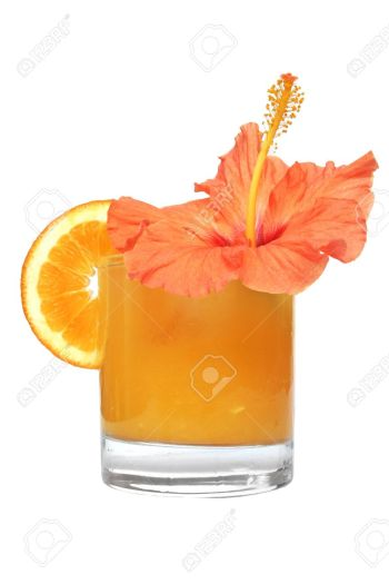 307363-orange-juice-with-hibiscus-flower-and-orange-slice-stock-photo