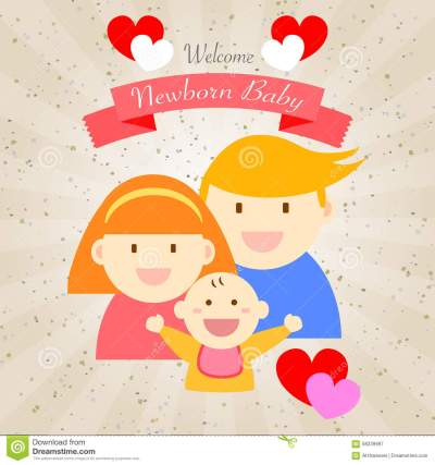 welcome-newborn-baby-happy-family-card-design-58239987